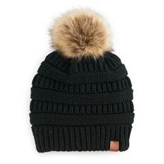 Women's SO® Knit Pom Pom Beanie
