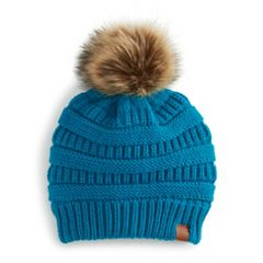 Women's SO® Knit Pom Pom Beanie