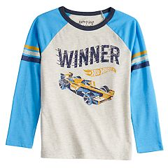 Boys 4-12 Jumping Beans® Retro Hot Wheels 'Winner' Striped Raglan Tee