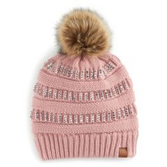 Women's SO® Embellished Pom Pom Beanie