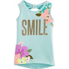 Girls 4-14 Carter's 'Smile' Floral Tank Top