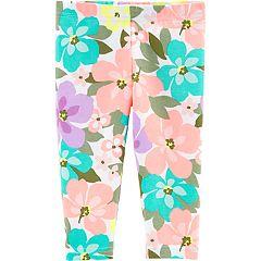 Baby Girl Carter's Floral Capri Leggings