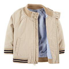 Baby Boy OshKosh B'gosh® Striped Hem Bomber Lightweight Jacket
