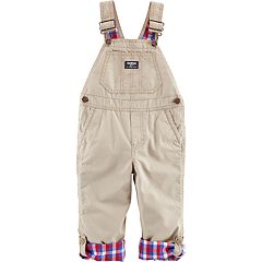 Toddler Boy OshKosh B'gosh® Plaid Lined Bib Overalls