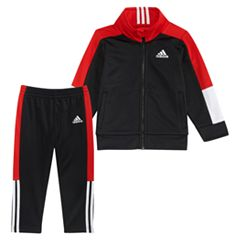 Baby Boy adidas Zip Mock Neck Track Jacket & Pants Set