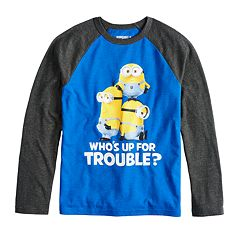 Boys 8-20 Minions 'Who's Up for Some Trouble' Tee