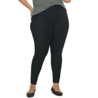 Plus Size Apt. 9® Tummy-Control High-Waisted Ponte Leggings