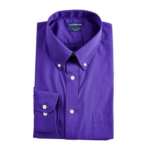 Men's Croft & Barrow® Classic-Fit Easy Care Button-Down Collar Dress Shirt