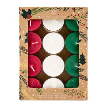 Chesapeake Bay Candle Holiday 0.44-oz. Tealight Candle 12-piece Set