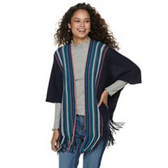 Women's Mudd® Striped Ruana