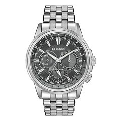 Citizen Eco-Drive Men's Calendrier World Time Stainless Steel Watch - BU2021-51H