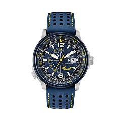 Citizen Eco-Drive Men's Blue Angels Promaster Nighthawk Leather Watch - BJ7007-02L