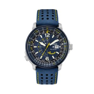 Citizen Eco-Drive Men's Blue Angels Promaster Nighthawk Leather Watch - BJ7007-02L