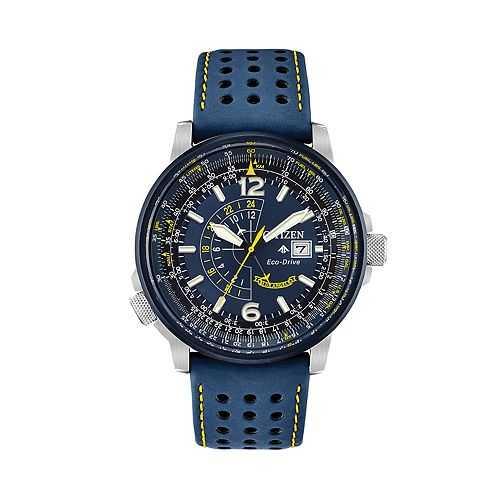 faef7e7632c Citizen Eco-Drive Men s Blue Angels Promaster Nighthawk Leather ...