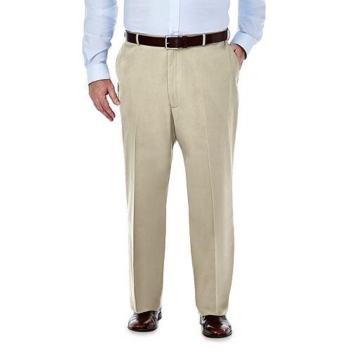 Big & Tall Haggar Premium Stretch No-Iron Khaki Flat-Front Pants