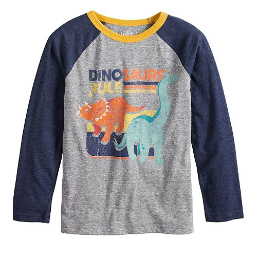 Boys 4-12 Jumping Beans® Retro Dinosaurs Raglan Graphic Tee