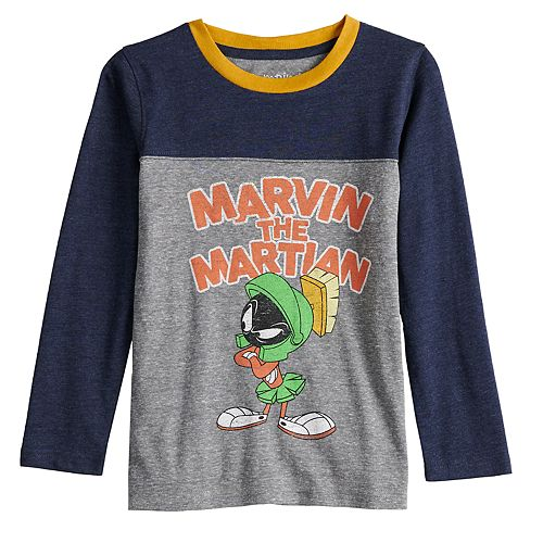 """Boys 4-12 Jumping Beans® Retro """"Marvin The Martian"""" Colorblock Tee"""