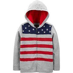 Boys 4-12 OshKosh B'gosh® American Flag French Terry Hoodie