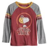 "Boys 4-12 Jumping Beans® Retro Peanuts Snoopy ""Flying Ace"" Raglan Tee"