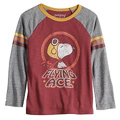 Boys 4-12 Jumping Beans® Retro Peanuts Snoopy 'Flying Ace' Raglan Tee