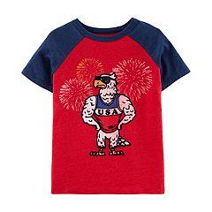 Boys 4-12 OshKosh B'gosh® USA Flocked Eagle Graphic Tee