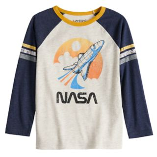 Boys 4-12 Jumping Beans® Retro NASA Striped Raglan Tee