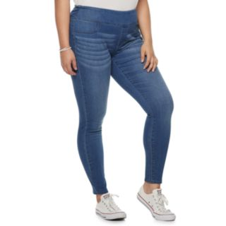 Juniors' Plus Size SO® Pull-On Mid-Rise Jeggings