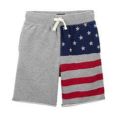 Boys 4-12 OshKosh B'gosh® USA Flag French Terry Shorts