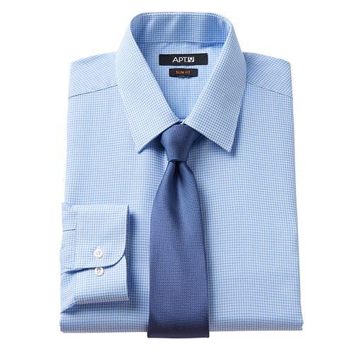 Men's Apt. 9® Slim-Fit Dress Shirt & Tie Set