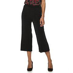 Women's Dana Buchman Pull-On Wide Leg Crop Pants
