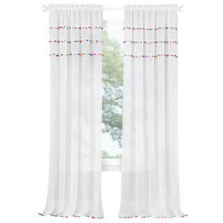 Achim Pom Pom Rod Pocket Window Curtain