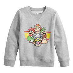 Boys 4-12 Jumping Beans® Retro Super Mario Bros. Softest Fleece Sweatshirt
