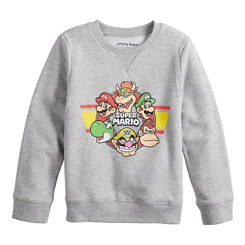 Boys 4-12 Jumping Beans® Retro Super Mario Bros. Softest Fleece Sweatshirt