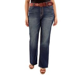 Juniors' Plus Size Wallflower Legendary Frayed Bootcut Jeans