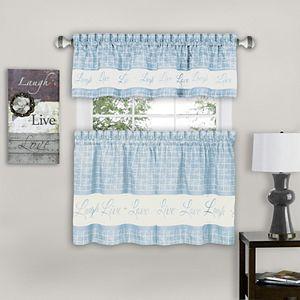 Live, Love, Laugh Window Curtain Tier Pair & Valance