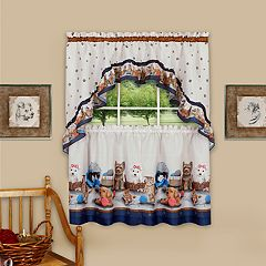 Achim Precious Printed Tier & Swag Window Curtain Set