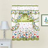 Achim Butterflies Printed Cottage Window Curtain Set