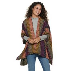 Women's Mudd® Woven Hooded Poncho