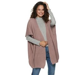 Women's Mudd® Lace Back Knit Poncho