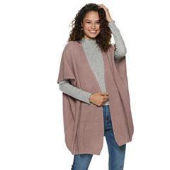 Women's Mudd® Lace Back Knit Poncho