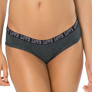 """SO® """"Love"""" Graphic Waist Hipster Panty"""