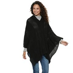 Women's Mudd® Woven Hooded Poncho