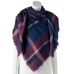 Women's Apt. 9® Brushed Stripe Blanket Square Scarf