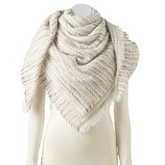 Women's Apt. 9® Blurred Lines Boucle Blanket Square Scarf