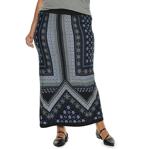 Plus Size Apt. 9® Print Column Maxi Skirt