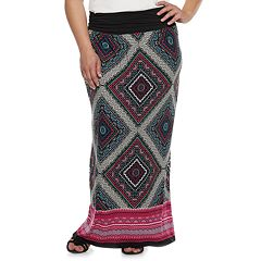 Plus Size Apt. 9® Print Column Maxi Skirt
