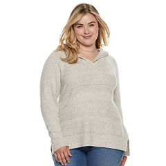 Plus Size SONOMA Goods for Life™ Supersoft Hooded Sweater