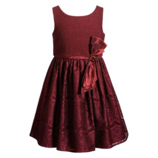Girls 7-16 & Plus Size Emily West Bow and  Lace Skirt Dress