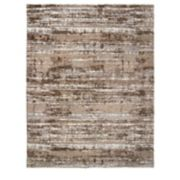 Gertmenian Avenue 33 Thera Micro Shaggy Michaela Abstract Striped Shag Rug