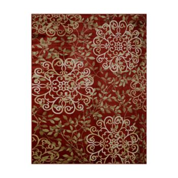 Gertmenian Avenue 33 Veranda Ruskin Indoor Outdoor Floral Scroll Rug